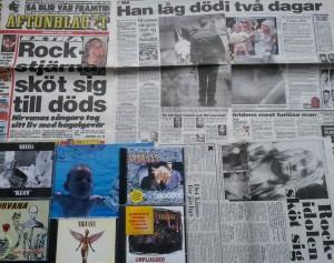 Kurt Cobain Aftonbladet & Expressen 9/4 1994